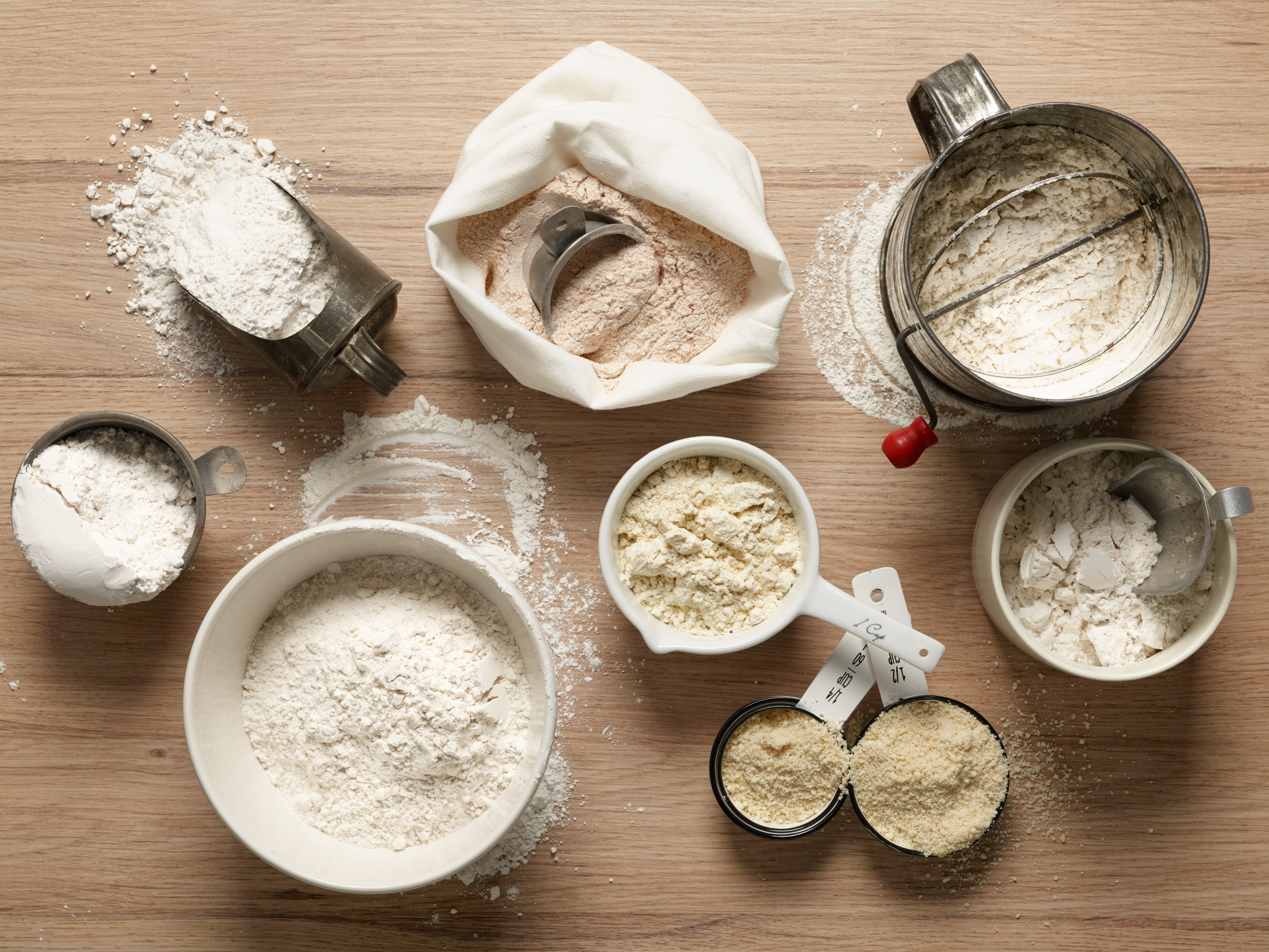 Food Network Kitchen's Baking Ingredient Guide to Flour for THANKSGIVING/BAKING/WEEKEND COOKING, as seen on Food Network.