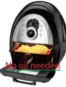 No oil needed in the kalorik air fryer