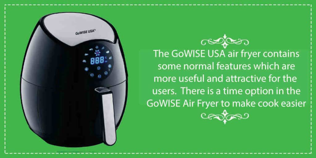 Some common characteristics of GoWISE USA air fryer