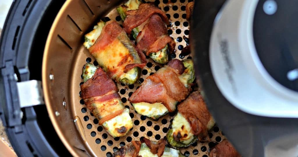 Frozen Bacon-Wrapped Jalapeno Poppers in The Air Fryer