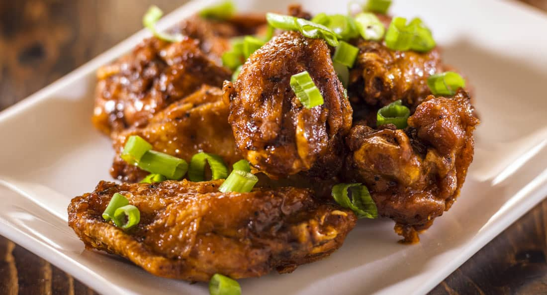 Thai chicken wings details