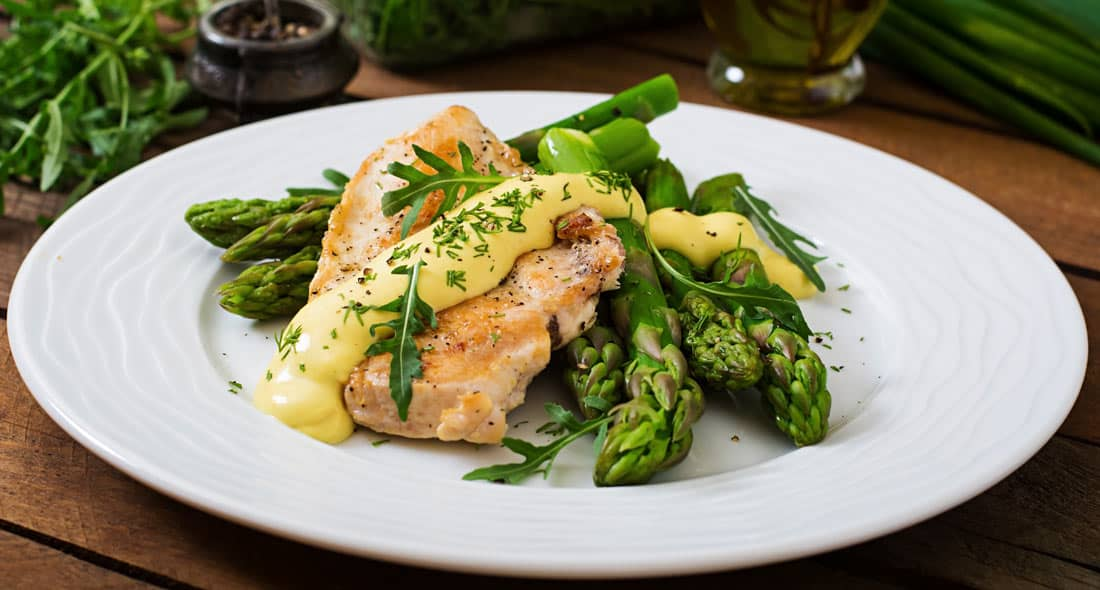 What is Asparagus Stuffed Chicken Parmesan?